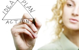 woman making plan